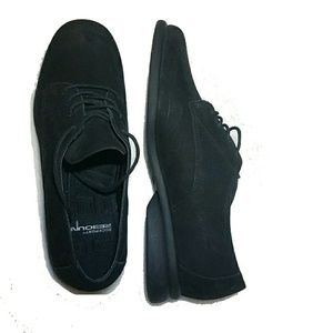 Rockport Black Womens Suede Shoes 7.5 Oxford